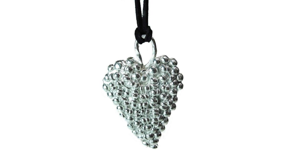 Lyst private opening large gothic shiny sterling silver heart pendant aloadofball Choice Image