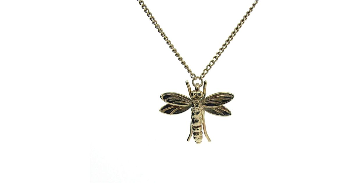 Will Bishop Gold Dragonfly Pendant Without Chain VkNA32