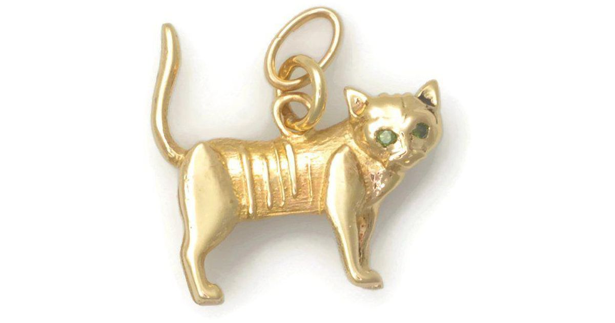 Donna Pizarro Designs 14kt Yellow Gold Tabby Cat Charm 55DkC