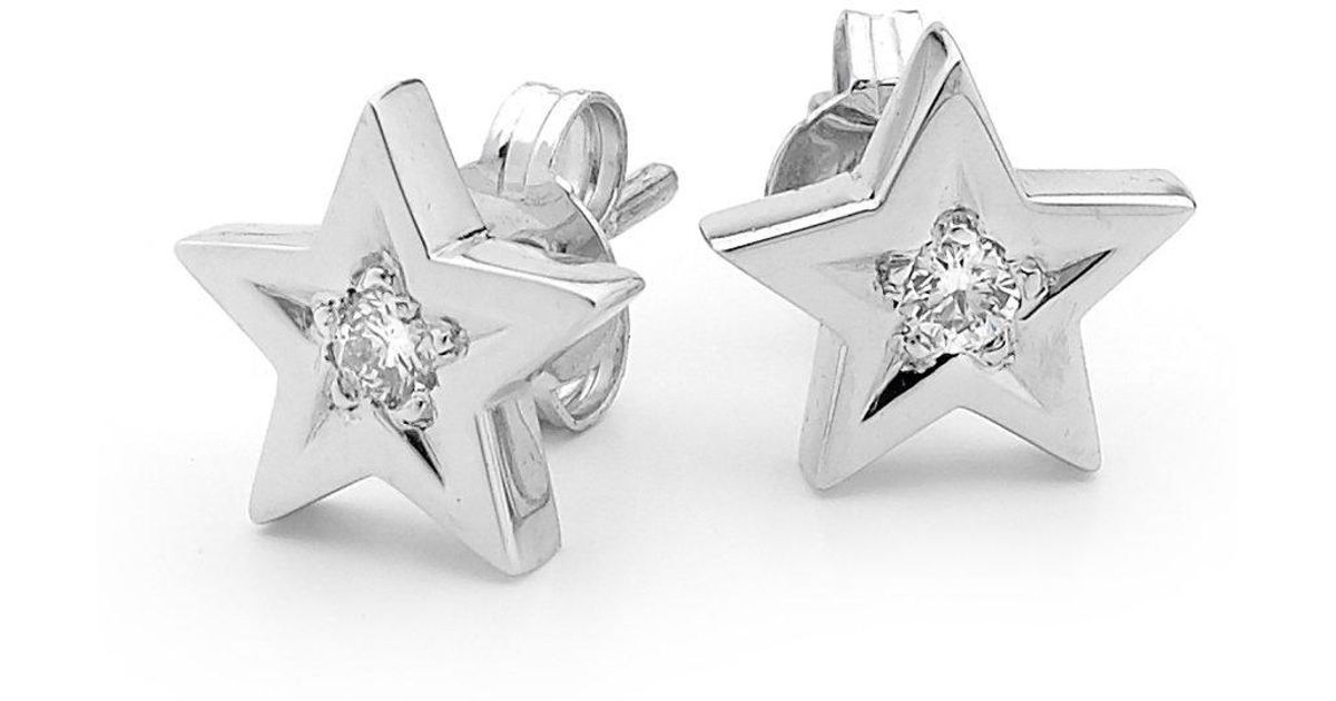 Argenton Design White Gold Diamond Star Studs Lyst
