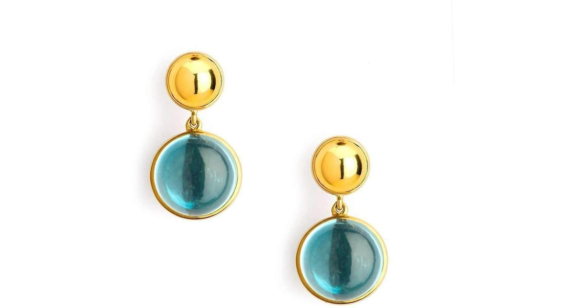 Syna 18kt Blue Topaz Bauble Earrings 9BnqcFxc