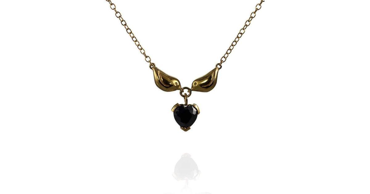 Jana Reinhardt Sterling Silver Tiny Double Wing Necklace - 42cm Eoz97f