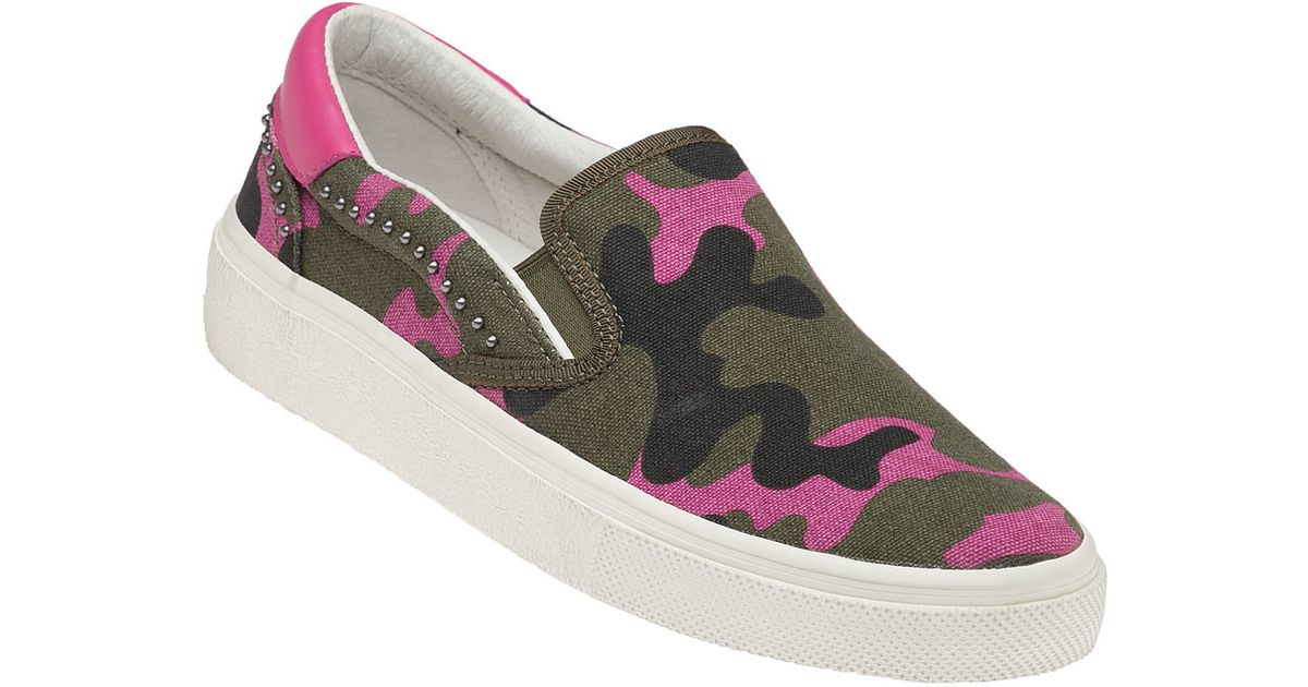 ash pink camo fabric slip on in pink lyst
