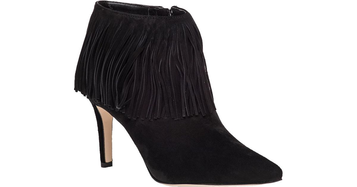 e6b39f8b1ae5 Lyst - Sam Edelman Kandice Fringed Ankle Boots in Black