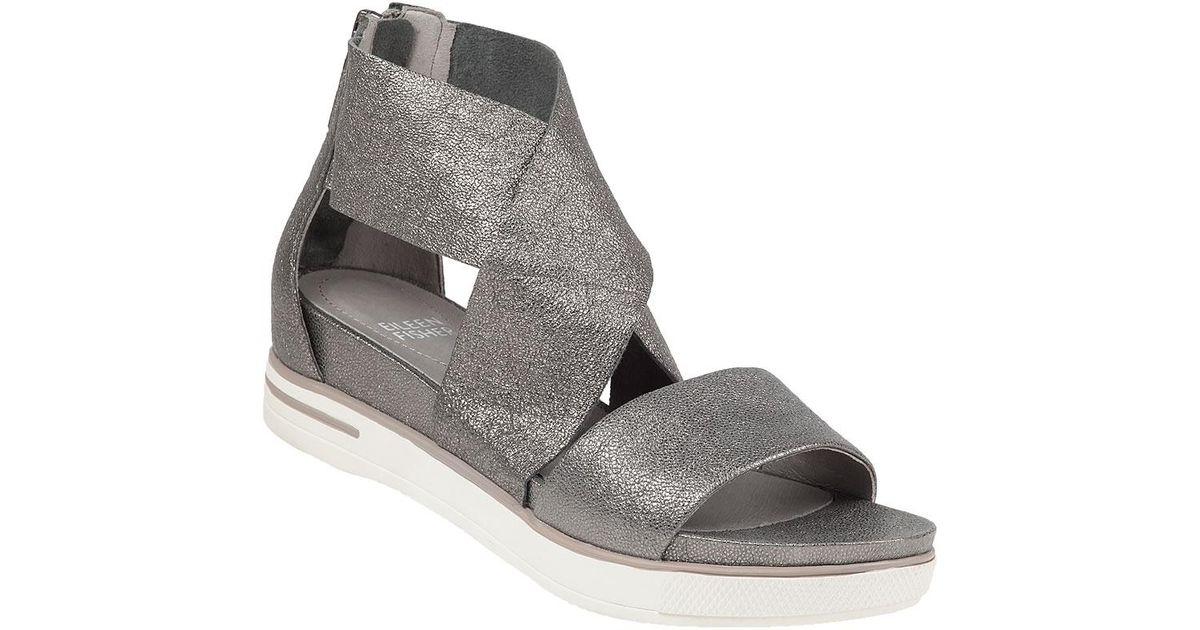 8c55388c290 Lyst - Eileen Fisher Sport Platform Sandals in Metallic