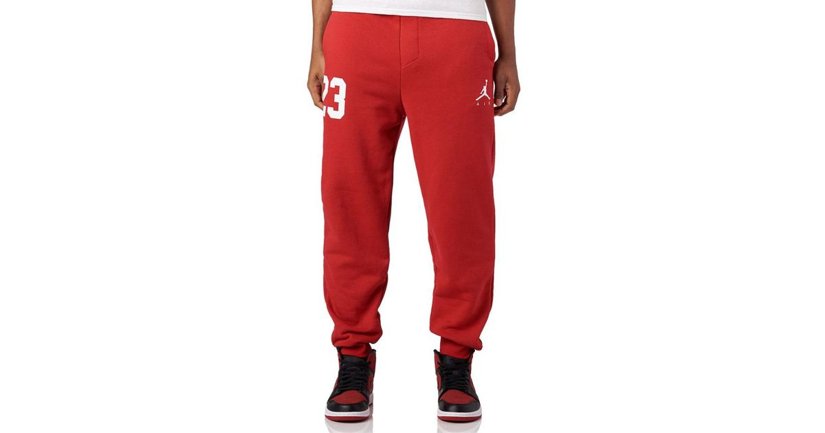 0b1ff03873ff Lyst - Nike Jumpman Air Gfx Pants in Red for Men