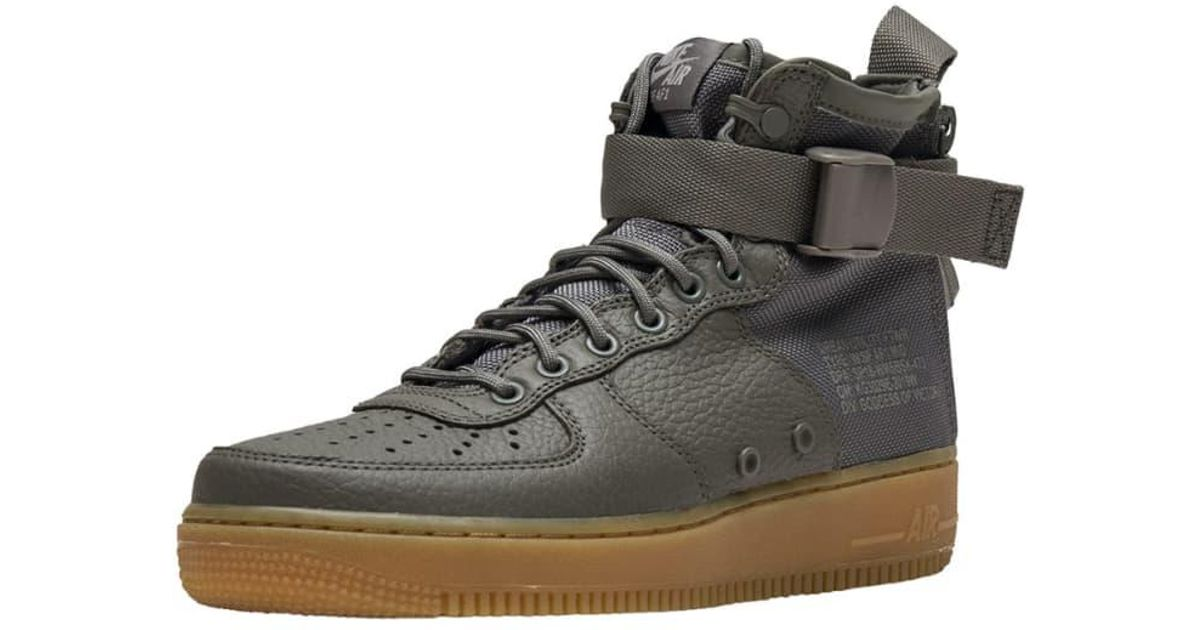size 40 624d7 fe550 Lyst - Nike Sf Air Force 1 Mid in Green