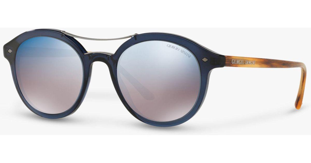 84b78726b5b8 Giorgio Ar8007 Lyst In Round Men Armani For Sunglasses Men's Blue rSqwWnrB4Z
