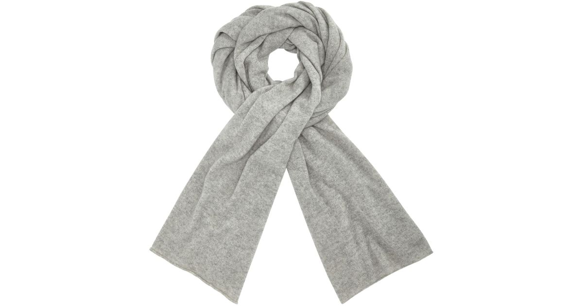a6cd9b76f88f9 John Lewis Cashmere Large Travel Wrap in Gray - Lyst