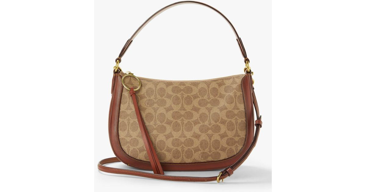 COACH Sutton Cross Body Bag in Brown - Lyst 2aac775b65867