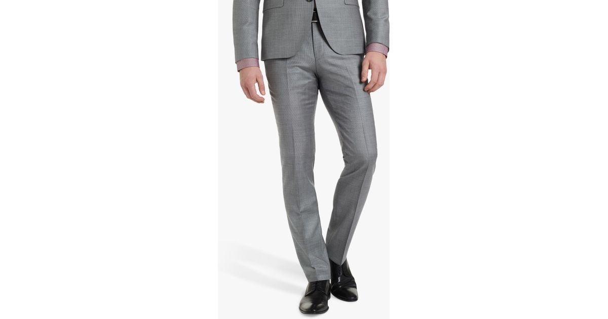 1fac5dbb BOSS Hugo By Hesten182 Birdseye Wool Super Slim Suit Trousers in Gray for  Men - Lyst