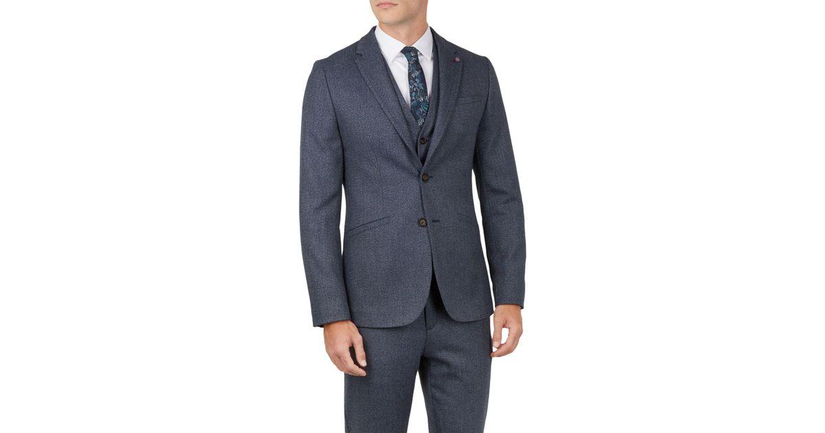 30b321a84 Ted Baker Bufalo Twill Jacket in Blue for Men - Lyst