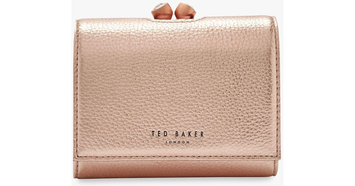 75416c80f2 Ted Baker Valery Leather Mini Purse in Pink - Lyst