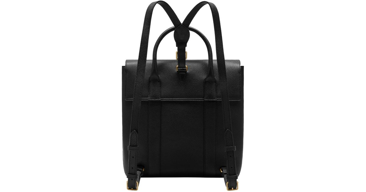 John Lewis Mulberry Bayswater Small Classic Grain Leather Backpack in Black  - Lyst 630705c0ebf4b