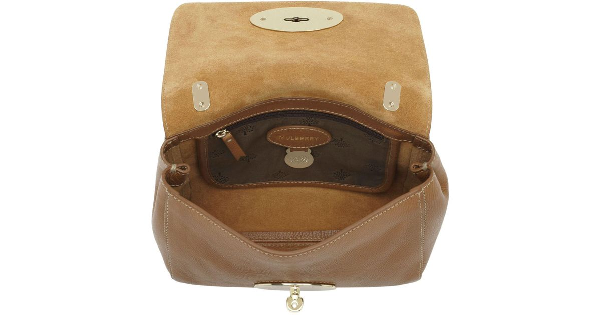 f43f09bfb020 ... order lyst john lewis mulberry medium lily leather shoulder bag in brown  263f5 04862
