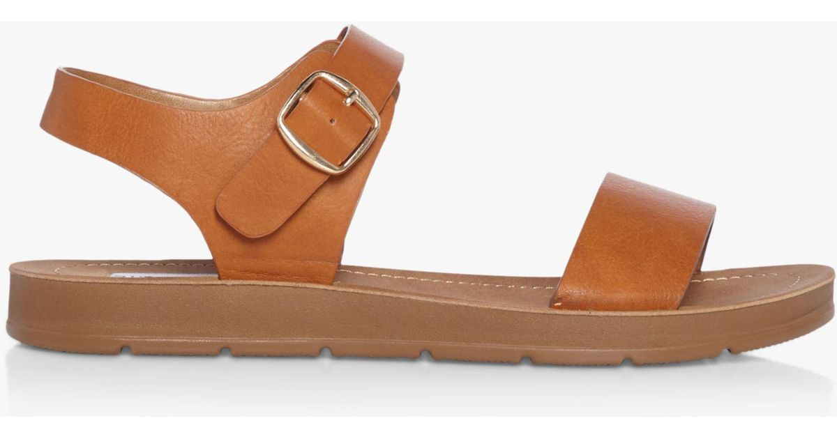 1bf68608f7d Steve Madden Probable Two Part Flat Sandals in Brown - Lyst