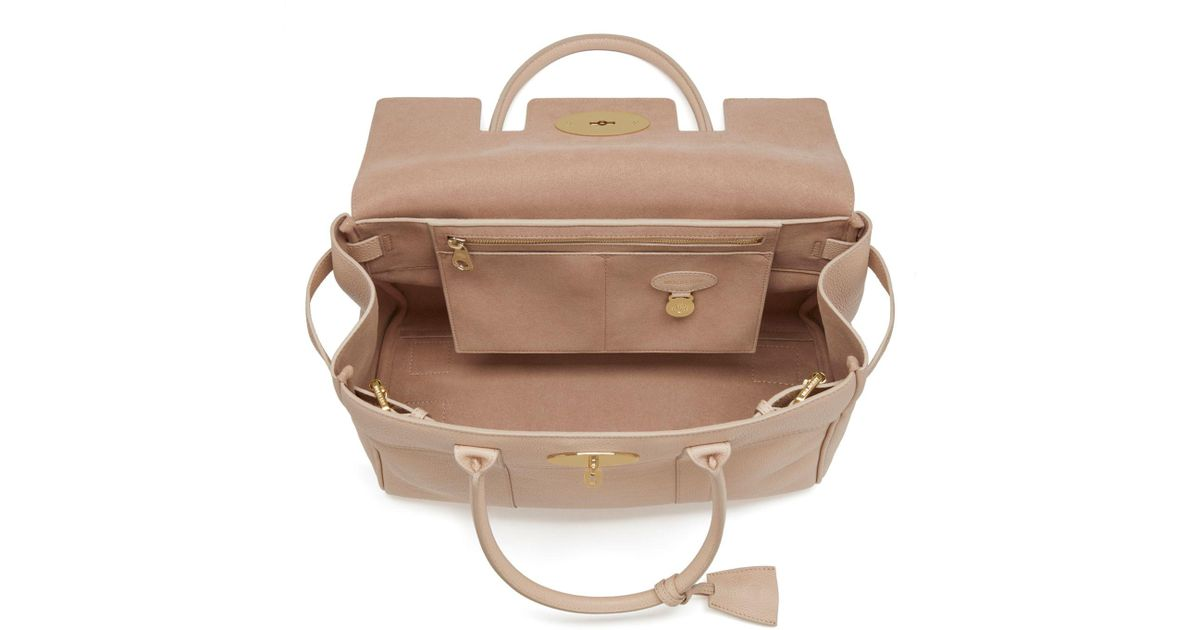 5476cd8a7e John Lewis Mulberry Bayswater Small Classic Grain Leather Grab Bag - Lyst