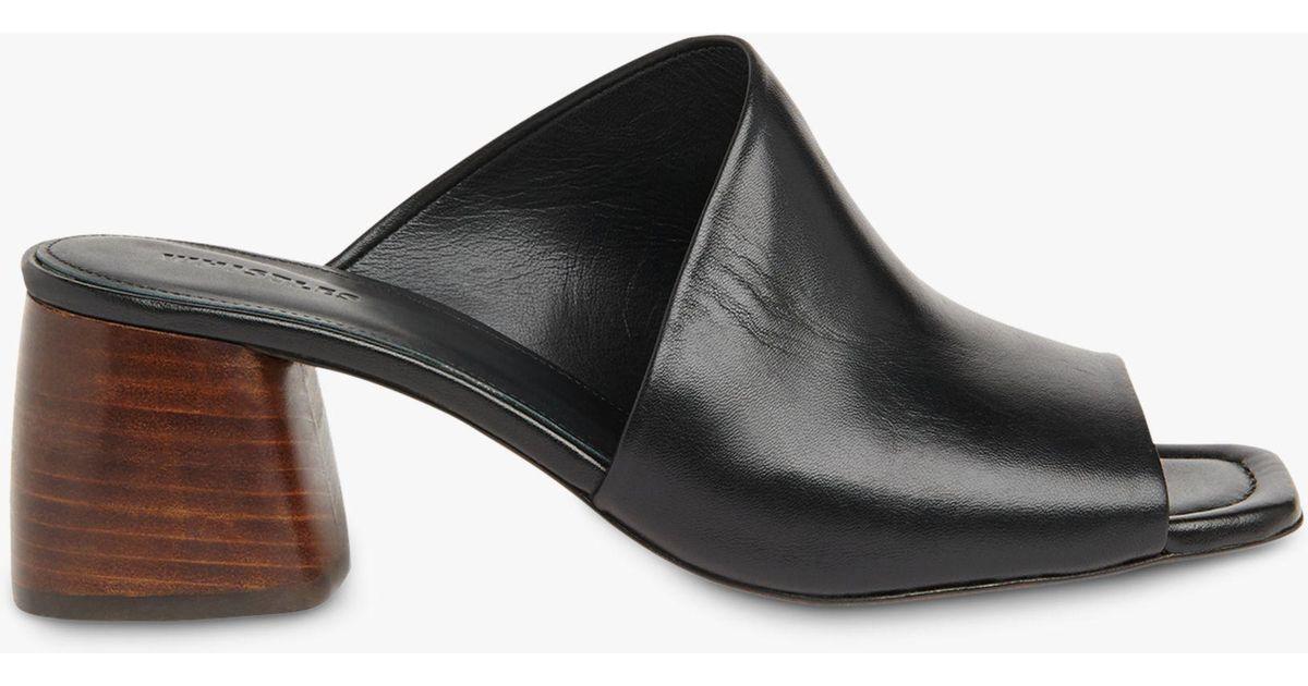 342c95327c63 Whistles Arcade Asymmetric Block Heel Sandals in Black - Lyst