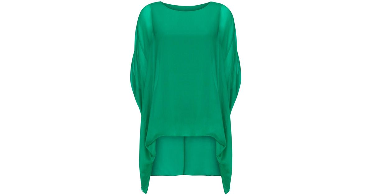 d07e7ead3ff0e Phase Eight Layla Oversized Silk Blouse in Green - Lyst