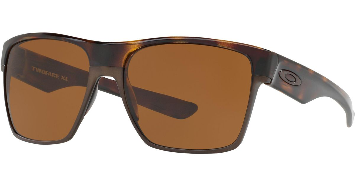 d4b73163b7 Oakley Oo9350 Two Face Xl Square Sunglasses in Brown for Men - Lyst
