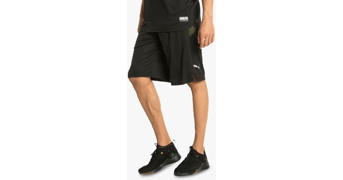newest collection 9500f ace84 Puma Energy Knit Mesh Running Shorts in Black for Men - Lyst