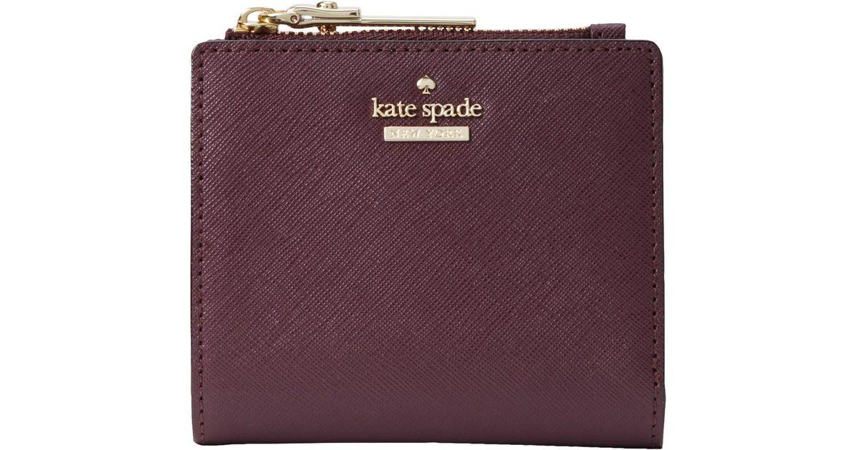 58a751360df63 Kate Spade Cameron Street Adalyn Leather Purse in Purple - Lyst