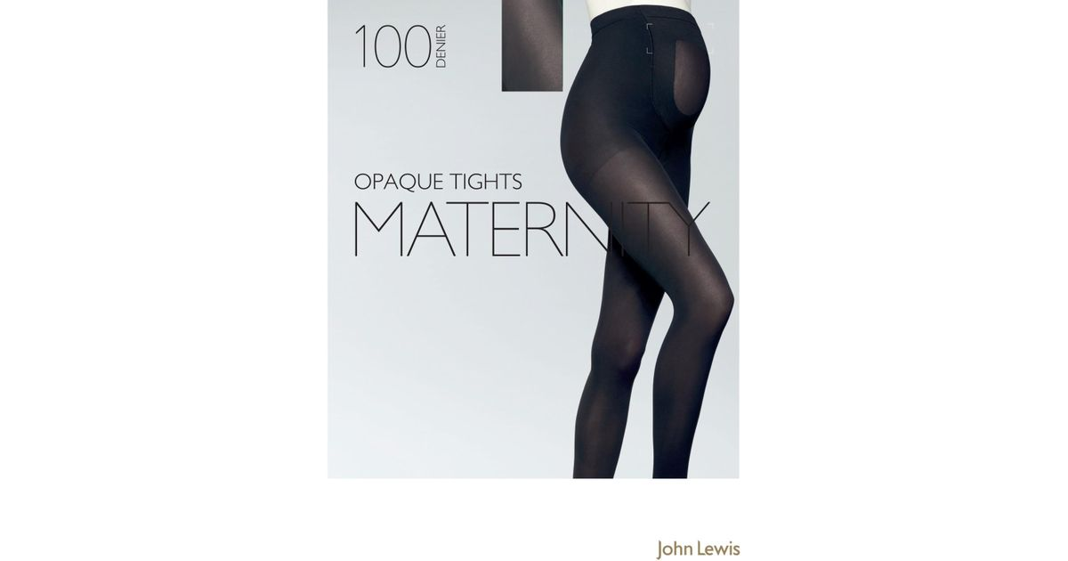 edc49abe6b John Lewis 100 Denier Opaque Maternity Tights in Black - Lyst