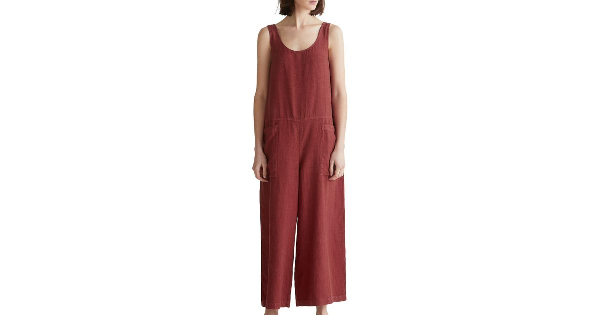 21fb5dff28a3 Toast Garment Dyed Linen Jumpsuit in Red - Lyst