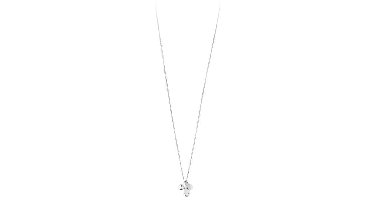 aaeab8c67c11 Dyrberg Kern Swarovski Crystal Triple Pendant Necklace in Metallic - Lyst