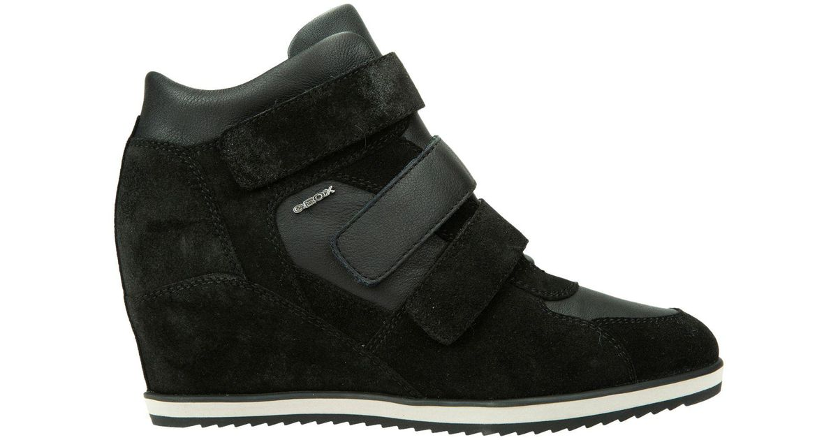 93ff3811162 Geox womens illusion hidden wedge trainers in black lyst jpeg 1200x630 Womens  wedge trainers