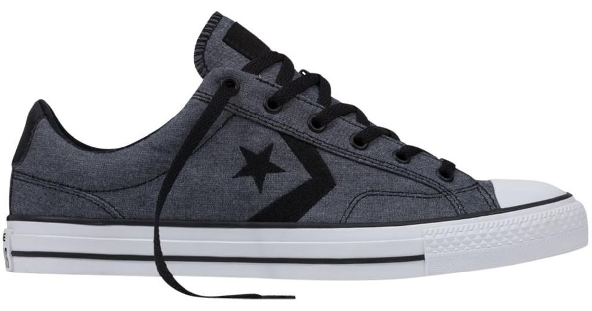 Converse Star Player Ox Trainers in Black for Men - Lyst ee17273a3