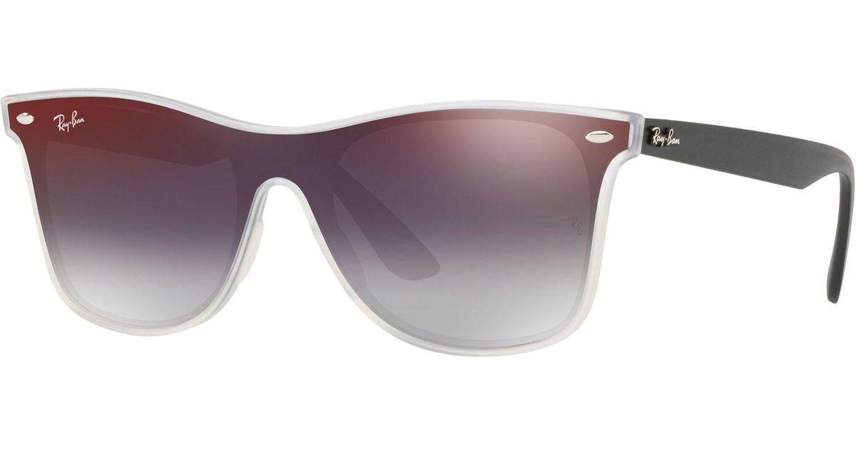 5e93c6115f1 Ray-Ban Rb4440 Unisex Mirrored Sunglasses in Red for Men - Lyst