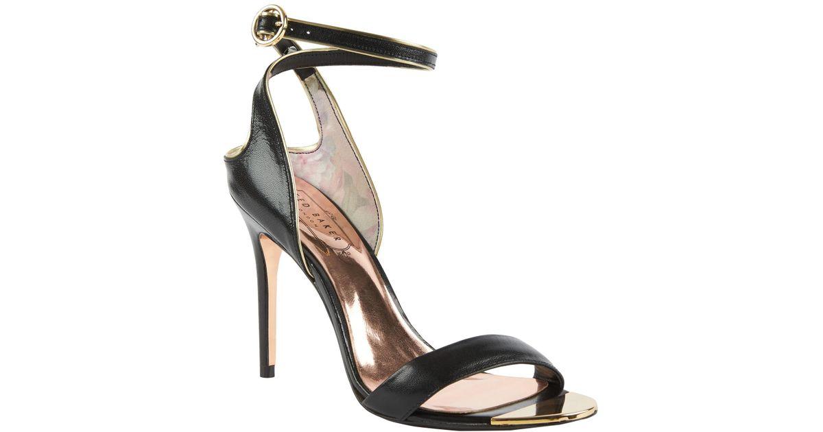 b96b5cf03 Ted Baker Mirobell Stiletto Heeled Sandals in Black - Lyst