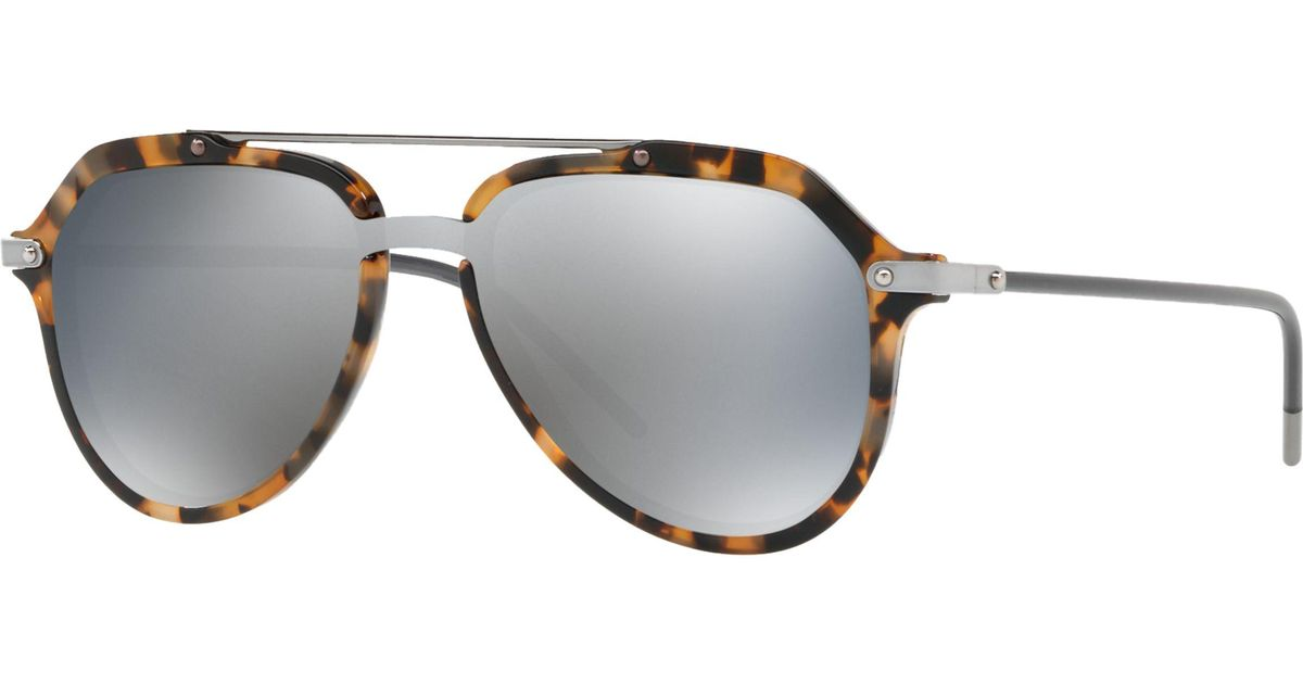 ae5c0629e8e6b Dolce   Gabbana Dg433022 Men s Aviator Sunglasses for Men - Lyst