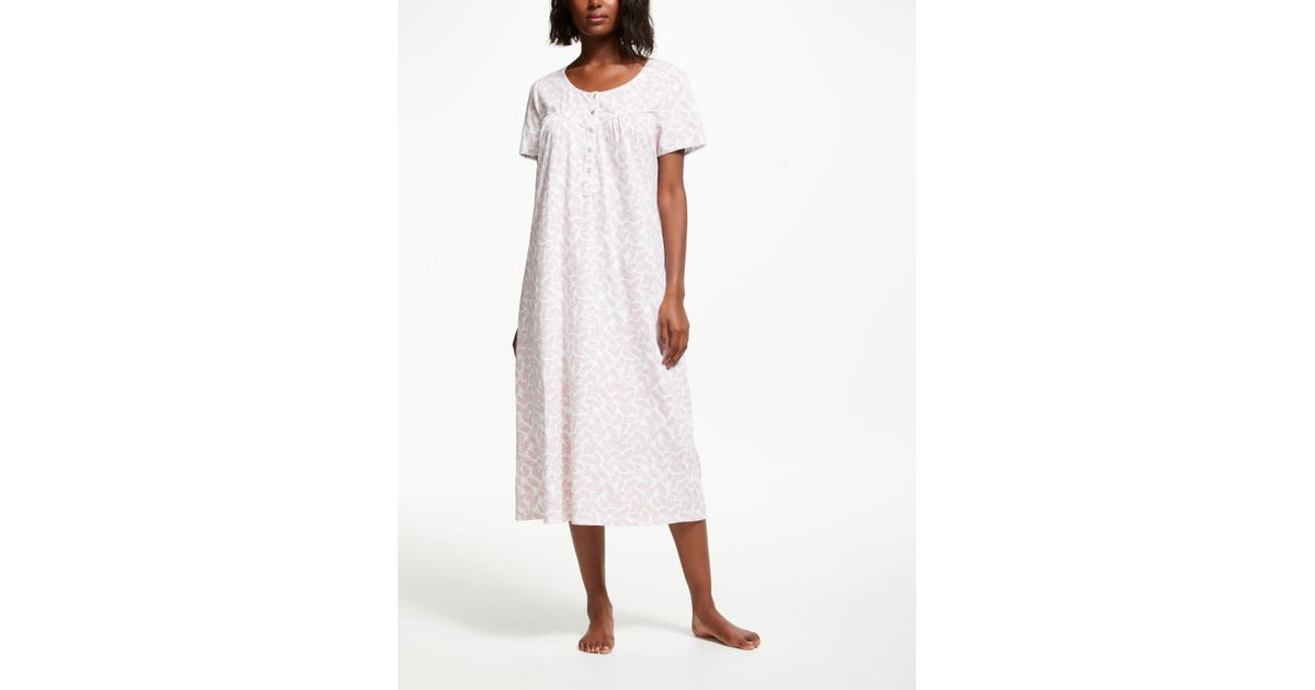 f8751d3911c John Lewis Freida Jersey Nightdress in Pink - Lyst