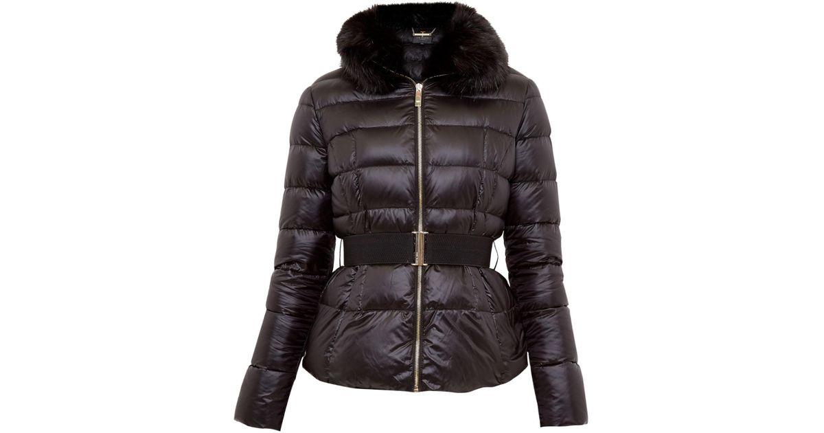 3e4144630a80 Ted Baker Junnie Down Jacket in Black - Lyst