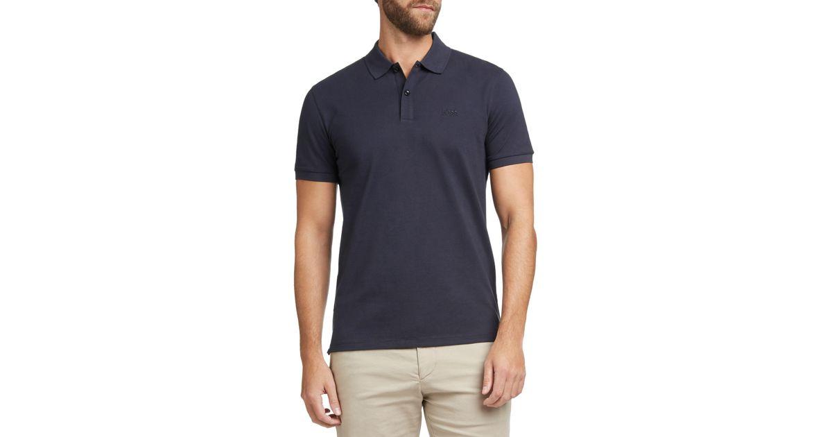 e06e84a6373d BOSS Boss Pallas Regular Fit Polo Shirt in Blue for Men - Lyst
