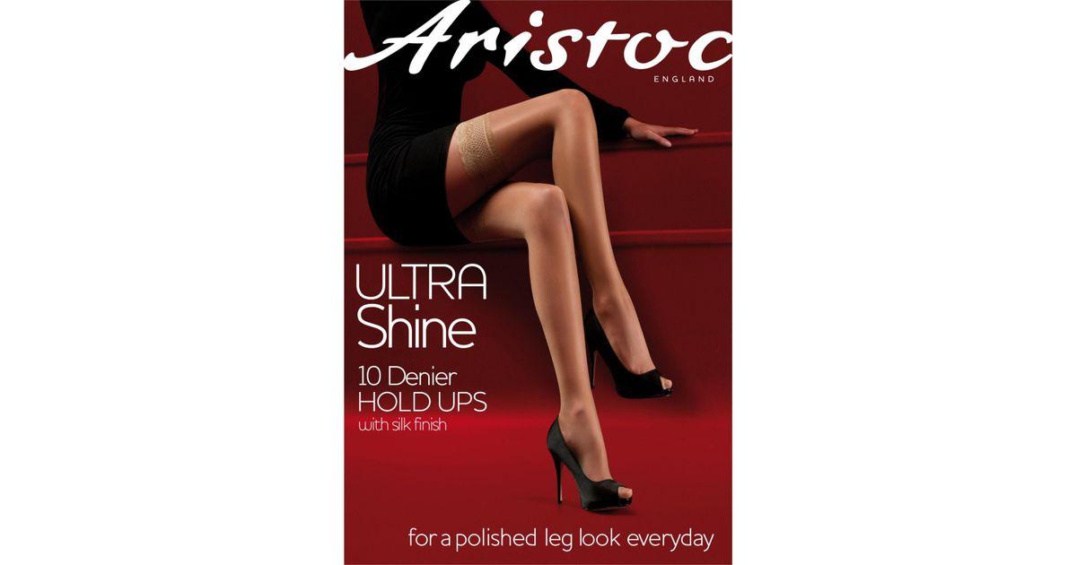 d2368785bf4 Aristoc Ultra Shine 10 Denier Hold Ups - Lyst