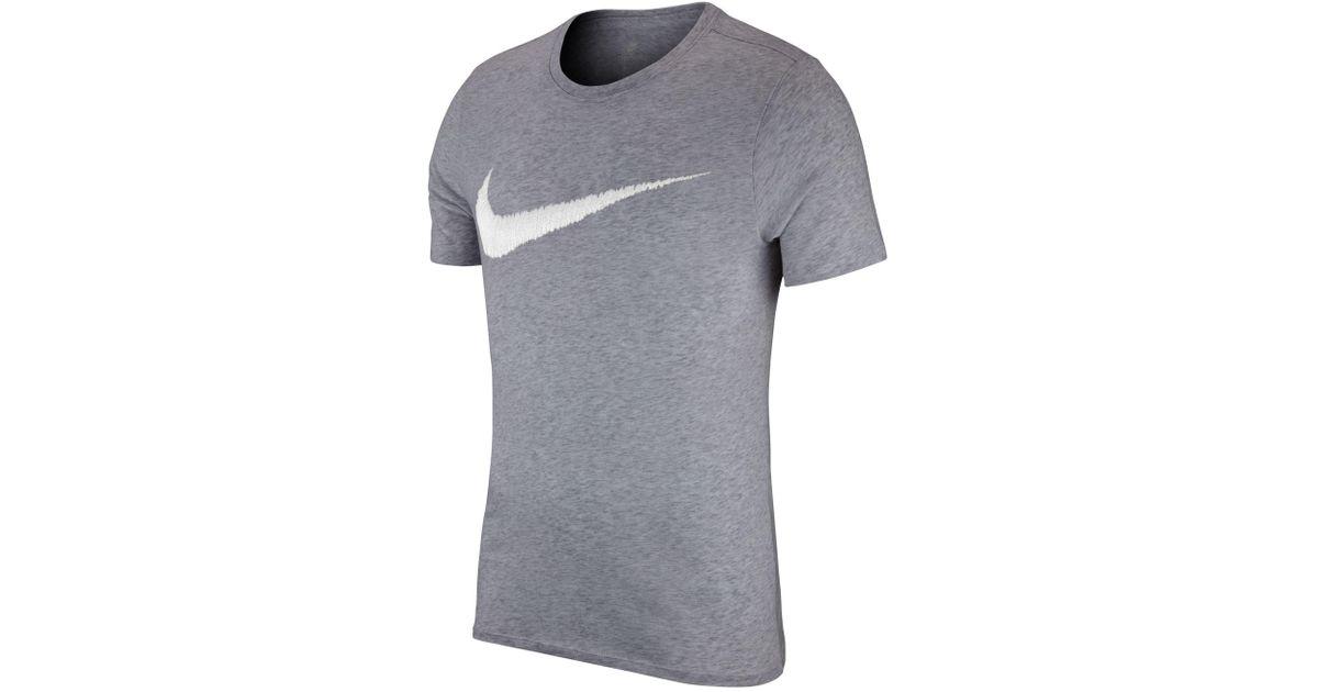 Men Nike T Lyst Sportswear Cotton Shirt In Gray Swoosh For ArpwA
