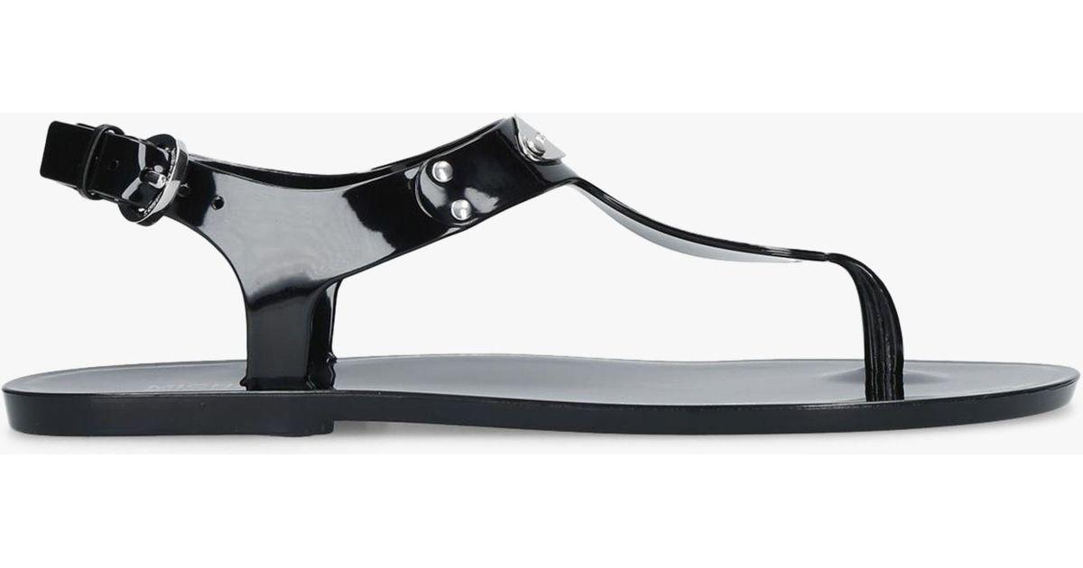 6960b61e5b5d Michael Kors Michael Mk Plate Jelly Sandals in Black - Lyst