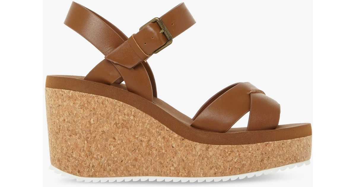 6c1528c94848 Steve Madden Gypsie Cork Wedge Sandals in Brown - Lyst