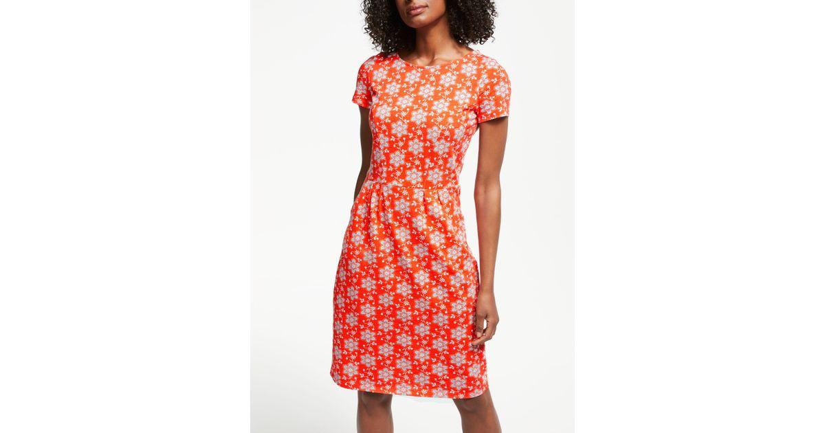 Boden Phoebe Jersey Dress In Orange Lyst