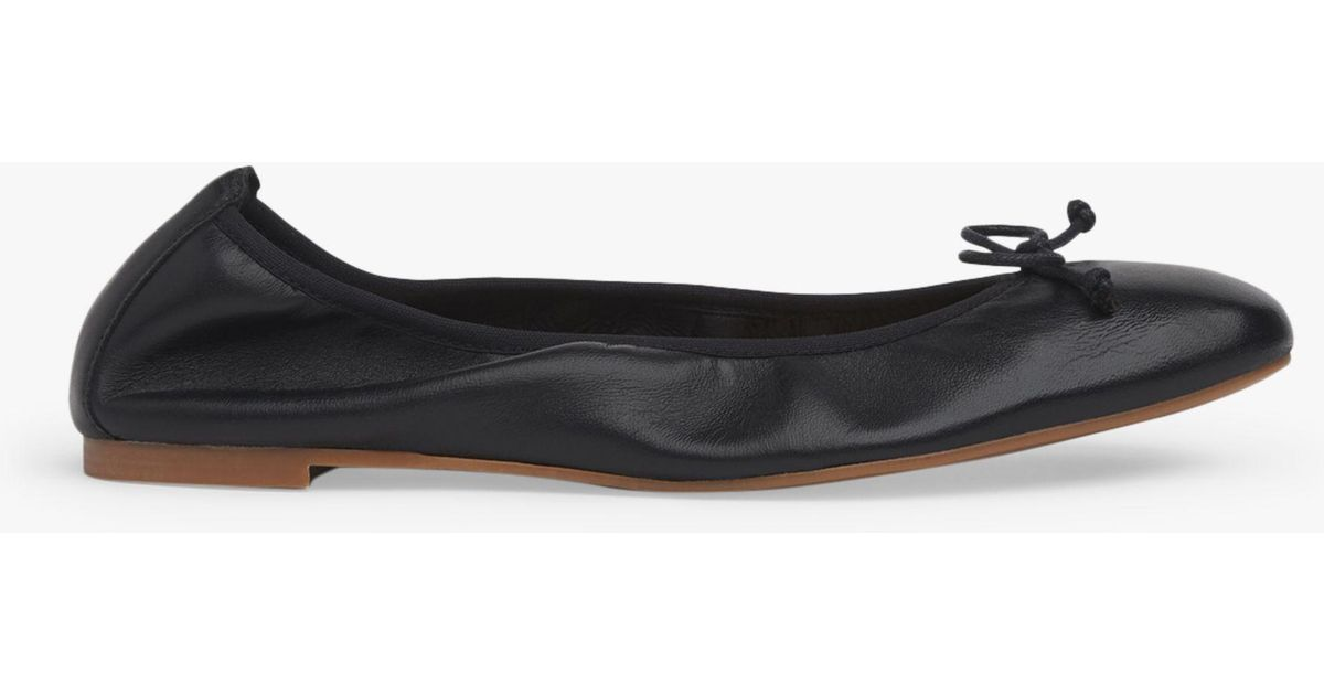 9ca16fcde720 L.K.Bennett Trilly Flat Pumps in Black - Lyst
