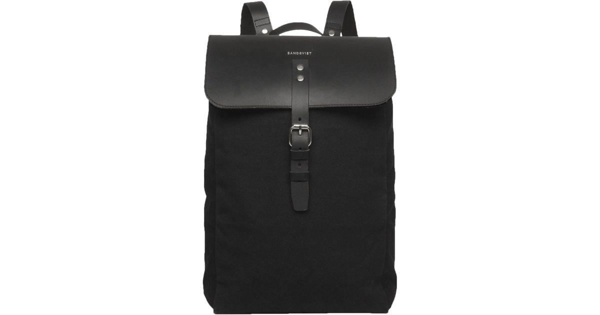 af25c619ce Sandqvist Alva Grand Canvas Backpack in Black - Lyst