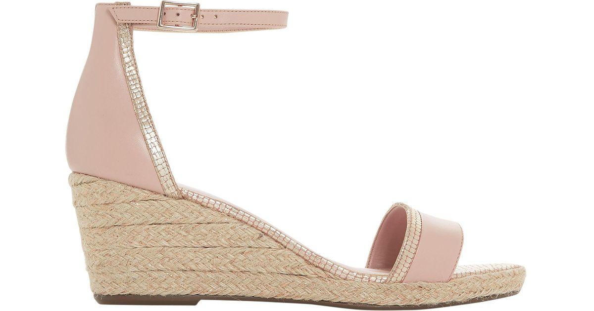 e2155682f0c6 Dune Klarice Wedge Heel Sandals - Lyst