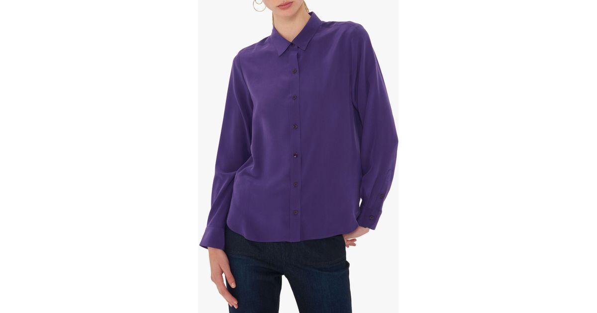 11c33c44a62a44 Gerard Darel Lila Silk Blouse in Purple - Lyst