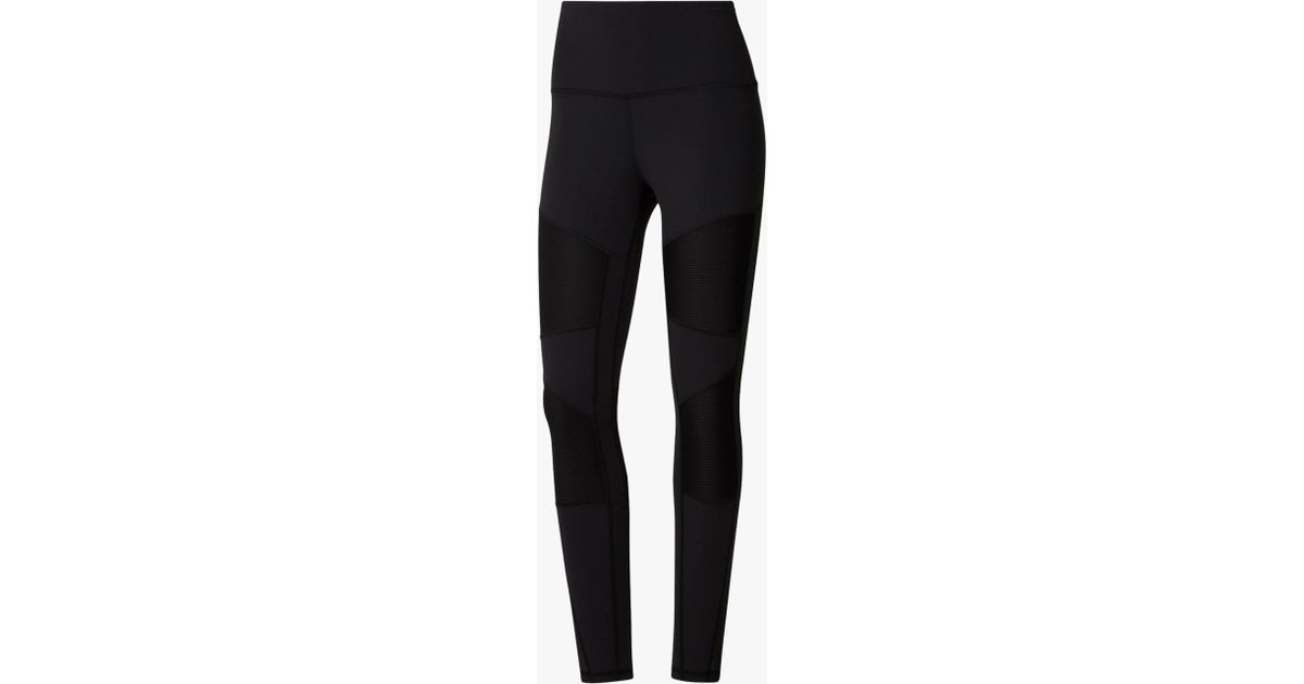 cfdb68df35 Reebok Cardio Lux High-rise Training Tights in Black - Lyst