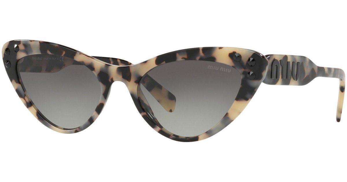 2491347efd Miu Miu Cat-eye Sunglasses in Gray - Save 24% - Lyst