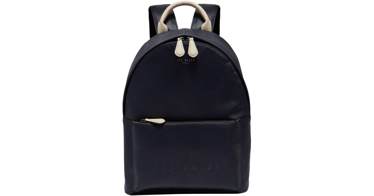 720a5bb81532 Ted Baker Clarky Embossed Backpack in Blue for Men - Lyst