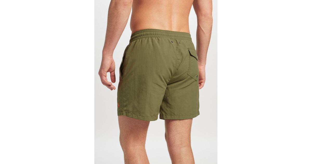 90a4757349 ... reduced john lewis polo ralph lauren traveller swim shorts in green for men  lyst ba93b 908b2